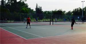 tennis at stanley park, Calgary, Alberta